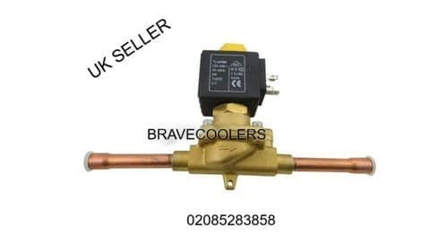 SOLENOID VALVE 3/8 3/8 WITH WELDING COMMERCIAL REFRIGERATION REPAIR